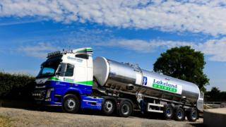 Lakeland Dairies lorry
