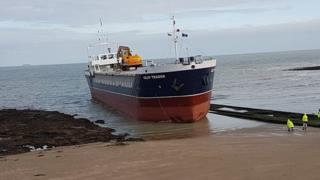 Cargo ship in Margate