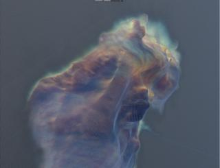 3D model of the pillars of creation