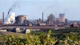 British Steel's Scunthorpe plant