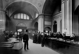 Consols Office at the Bank of England, 1894