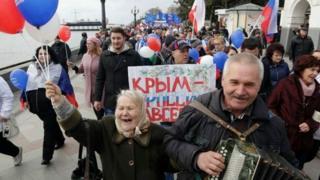 Багато мешканців Криму вітали анексію