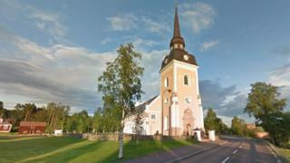 Church in central Alvdalen