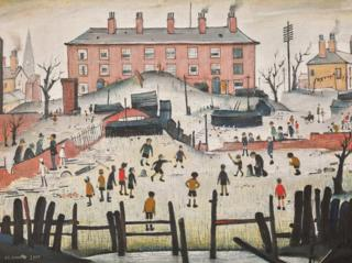 L.S. Lowry's portrait of A Cricket Match