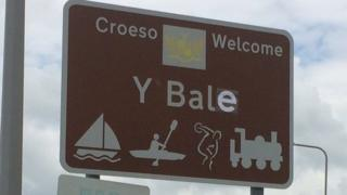 One of 'Bale's' new signs