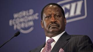 Umukandida mu matora y'umukuru w'igihugu Raila Odinga yitoza ku runani NASA
