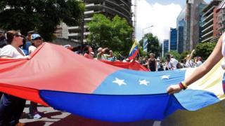 تظاهرة في فنزويلا اعتراضا على الأوضاع الاقتصادية الصعبة