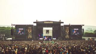 The main stage at Download
