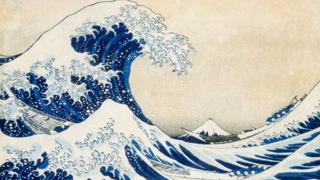 Hokusai's original woodblock print