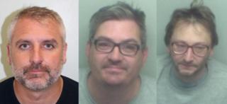From left: Andrew Barrett, Michael Mealing, Jonathan Hart