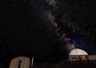 Photo of the sky taken from the Scottish Dark Sky Observatory