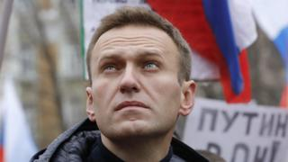 Alexei Navalny at a rally in memory of Boris Nemtsov in February 2019