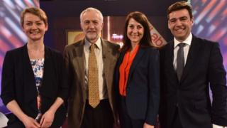 Yvette Cooper, Jeremy Corbyn, Liz Kendall and Andy Burnham