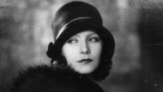 Swedish-born American film actress Greta Garbo, shortly after she arrived in Hollywood, 1927