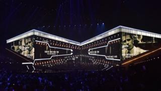 Вид на зал, где вручаются премии