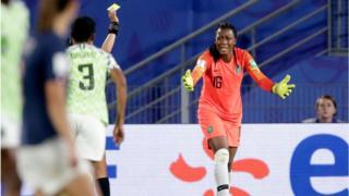 Nigeria 18 year-old goalkeeper Chiamaka Nnadozie