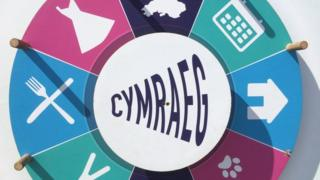 Spin the wheel in Welsh