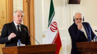 وزرای خارجه ایران و فرانسه در کنفرانس خبری امروز در تهران