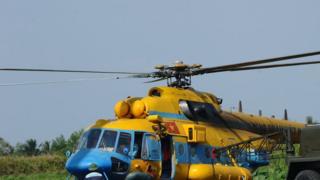گفته شده که هلیکوپتر سقوط کرده از نوع می-۱۷۱بوده است (عکس از آرشیو)
