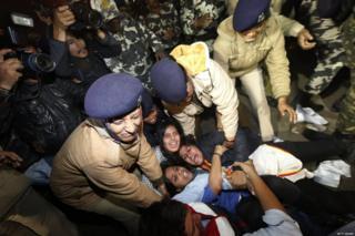 निर्भया मामले के बाद हुए विरोध प्रदर्शन का एक दृश्य