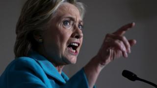 Hillary Clinton berbicara dalam kampanye di Florida