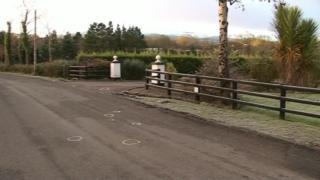 Croaghrim Road accident scene in 2008