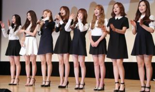 Lovelyz at the event announcing them as anti-smoking ambassadors