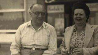 A photo of Theo (left) and Esther Vermeirsch, original owners of the Patisserie Valerie, Esther was known around the Soho area as Madame Valerie and never worked in the kitchen baking, but ran the front of house. The photo was taken in 1946, a year before Theo died, at an unknown location.