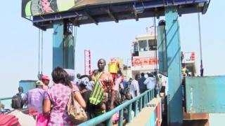 Ubwato i Banjul