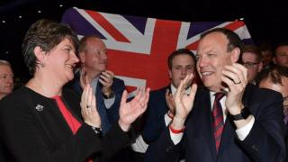DUP leader Arlene Foster and DUP deputy leader Nigel Dodds