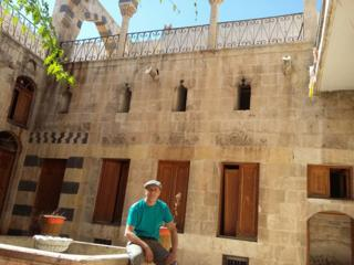 Zahed in the courtyard on his last visit
