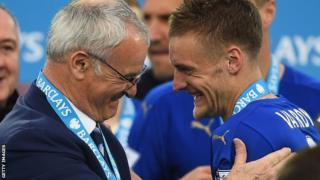 Claudio Ranieri dan Jamie Vardy