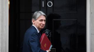 Chancellor Philip Hammond at 10 Downing Street