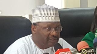 INEC Chairman Profesor Mahmood Yakubu