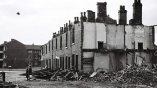 houses demolished with new builds nearby