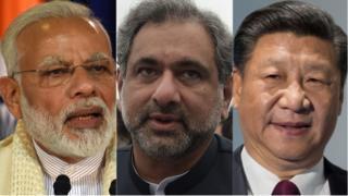 भारत, पाकिस्तान, चीन