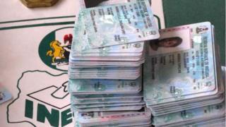 Voters registration cards.