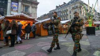 Soldiers in Brussels