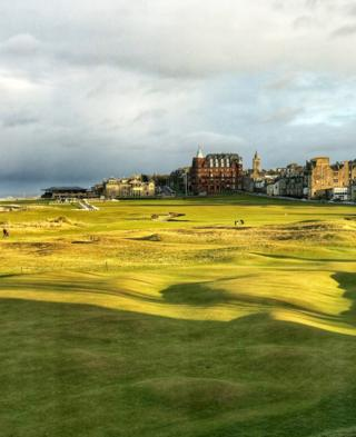 Evening sunshine on The Old Course at St Andrews