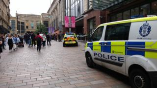 Police outside Buchanan Galleries