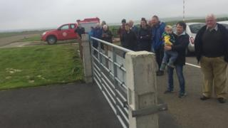 Crowd at Westray