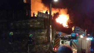 Looe fire