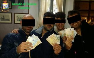 Handout from Guardia di Finanza of Carabinieri officers arrested on 22 July 2020
