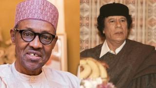 Muhammadu Buhari and Muammar Ghaddafi