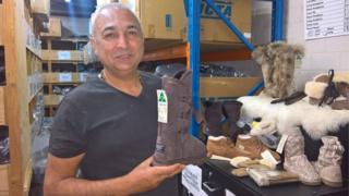 Australian ugg boot manufacturer Eddie Oygur at his factory in Sydney