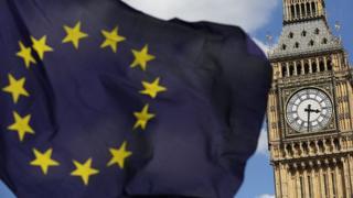 Флаг ЕС на фоне Биг-Бена