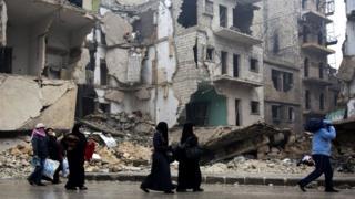 Baraguzan gini a cikin Aleppo