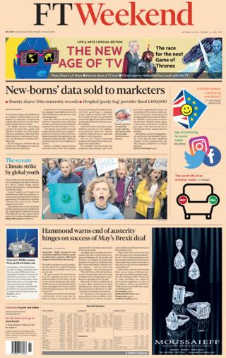Financial Times front page, 13/4/19
