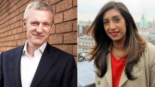 Jeremy Vine and Tina Daheley