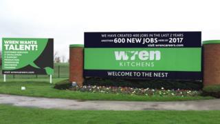 Front signage of Wren Kitchens